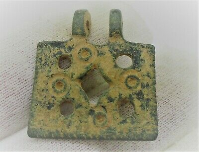 Detector Finds Ancient Roman Bronze Amulet With Ring And Dot Motifs