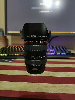 Canon EF 24-105 mm IS USM Zoom Lens Used Clean Glass
