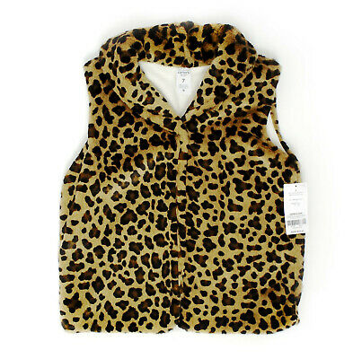 Fashionable and Cozy Faux Fur Cheetah Print Vest Carter's Kid Girls' Size 7 NWT