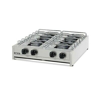 Cooker Gas Professional 204S Eurochef 4 Burner - Chrome Grill