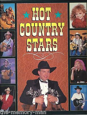 Hot Country Stars 1993 Hardcover Book Garth Brooks George Strait Reba McEntire