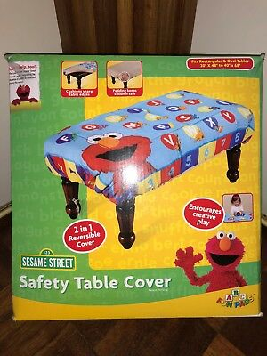 Brand New in Box Sesame Street Safety Table Cover