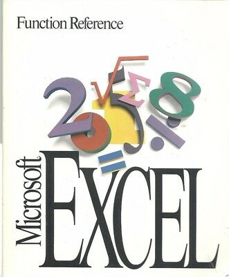 Microsoft Excel Function Reference and User Guide Business Graphics Spreadsheets