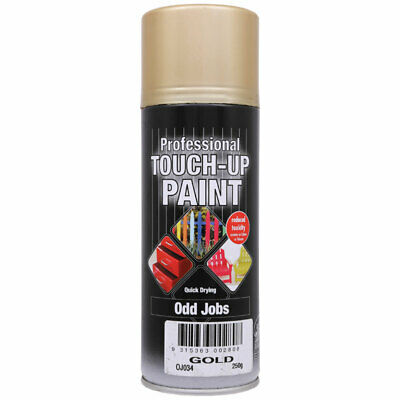 NEW Professional Touch Up Paint Metallic Gold Aerosol 250g