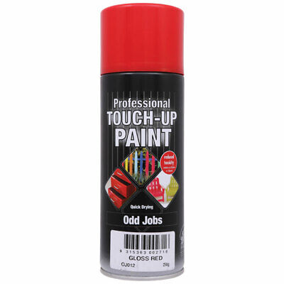NEW Professional Touch Up Paint Red Gloss Aerosol 250g