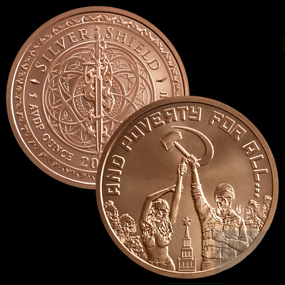 1 oz Copper Round - And Poverty For All