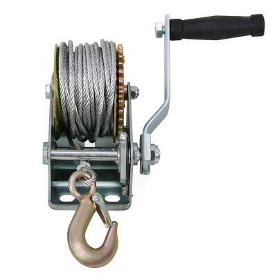 Pulling Hand Winch for Wire Rope 800 lbs Capacity