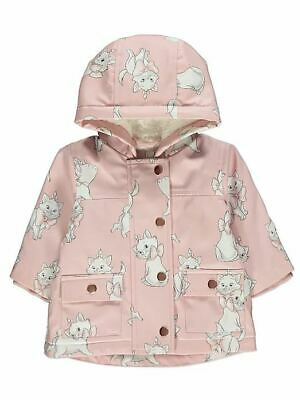 Disney Baby George The Aristocats Marie Pink Girls Hooded Coat Jacket Rain Mac