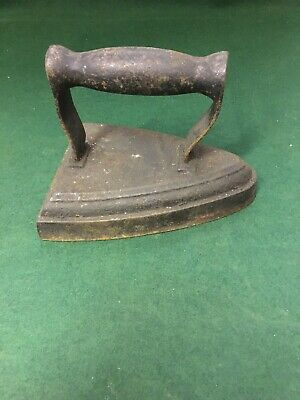 Antique Very Old Cast Iron Flat Sad Iron No 6. Door Stop or Bookend