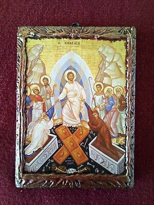 The Resurrection of Christ HANDMADE orthodox greek russian wood icon