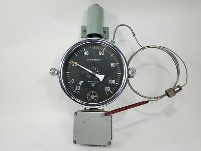 Spriano Remote Mount Industrial Steampunk Thermometer with Thermocouple Celsius