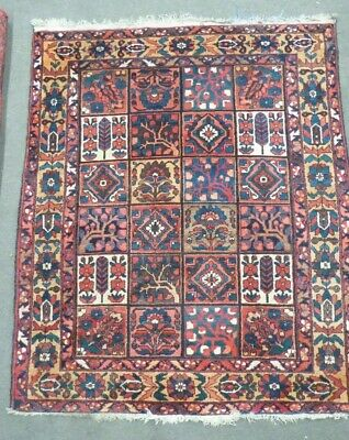 Antique Persian Eastern Tribal Hand Knotted Woollen Woven Flora Floor Rug Carpet