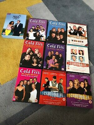 JOB LOT/BUNDLE OF TV SERIES USED DVDs ~ COLD FEET, CUTTING IT, DEATH IN PARADISE
