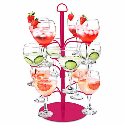 Cocktail Tree Pink - Cocktail Glass Display for 12 Glasses, Gin Tree