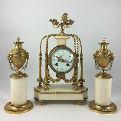 Pendulum Support Napoleon III Robillard Soissons Candle Holders XIX # No 304