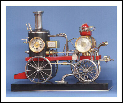 Rare French Industrial Fire Engine Automaton Clock