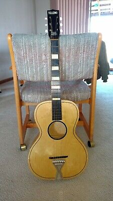 Vintage TELLENO Acoustic Guitar OLD parlor 1960's very good Condition.