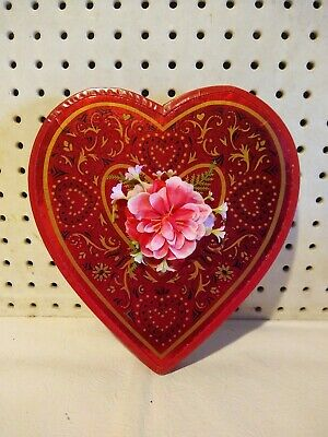 Vintage Red Valentine's Day Candy Box Red W/Insert
