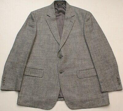 Vito Rufolo Italy Soft Silk/Linen/Virgin Wool Men's 42R Gray Blazer Suit Jacket