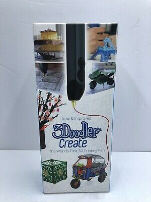 3Doodler Create 3D Drawing Printing Pen w/ 50 Plastic Strands No Mess Non-Toxic