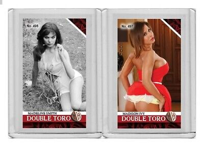 Madeline Smith rare MH Double Toro #'d 1/3 Tobacco card no. 496