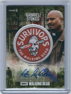 Seth Gilliam as Father Gabriel Stokes Autograph Patch - The Walking Dead - 08/25