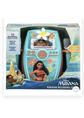 Disney MOANA Karaoke Digital Recording Studio with Dual Microphones  eKids  NEW