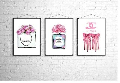 Coco Chanel A4 Wall Print Bedroom Dressing Room Home Poster Art Set Of 3 Gift 9