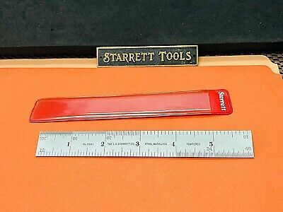 STARRETT No.601-6  6 Inch Spring-Tempered Steel Rule with Inch Graduations. USA.