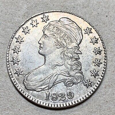 1829 Capped Bust Half Dollar   Choice Au   O-117.