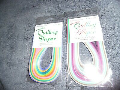 2 Packs of Quilling Paper - 80 pieces per pack - Bright & Winter Assortment