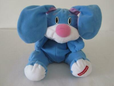 Vintage Fisher Price Rumple Bear Bunny Rabbit Soft Plush Character Toy Blue Pink