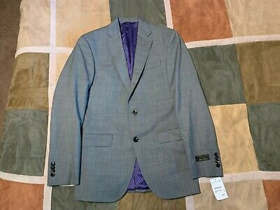 Ted Baker london endurance jay ct grey 100% wool blazer sport coat 36 R mens NEW