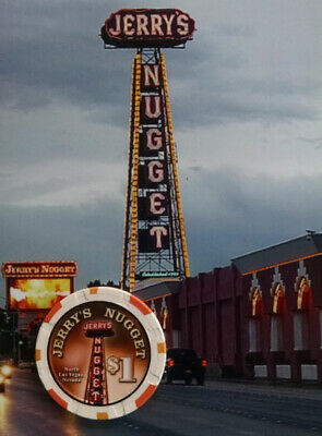 Jerry's Nugget Casino - $1 Gaming Chip - North Las Vegas Nv - Obsolete