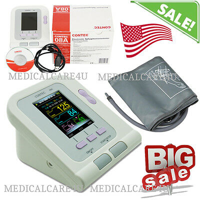 CONTEC08A Color OLED Arm Digital Blood Pressure Monitor Software NIBP Monitor US