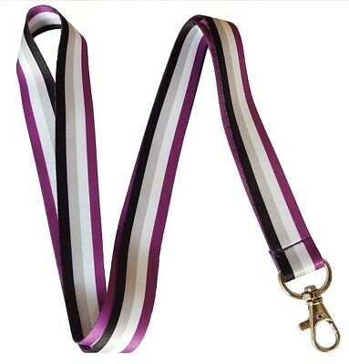 Asexual Pride Lanyard - Asexual Flag Colours