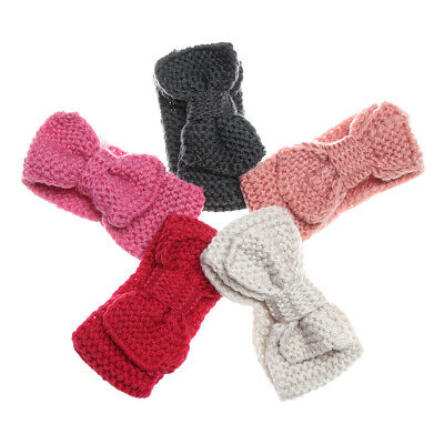 Elastic Kids Knitted Headband Bowknot Hairband Thick Warm Hair Accessories