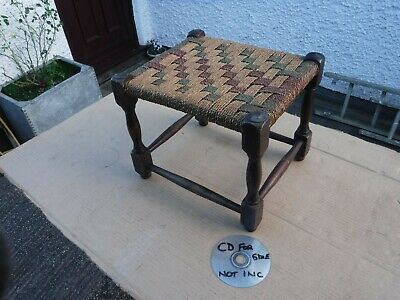 Vintage  String Top Stool.  Free  Delivery.
