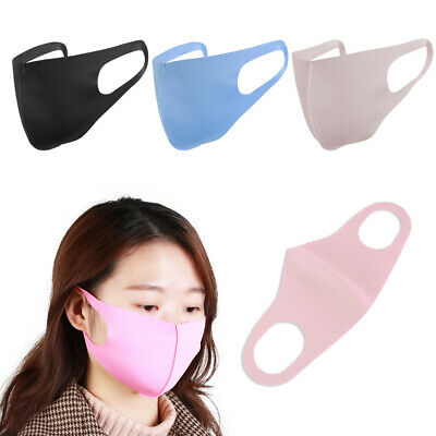 Washable Anti-Bacterial Mouth Masks Anti-Haze Dust Pollen Allergy Anti-PM2.5