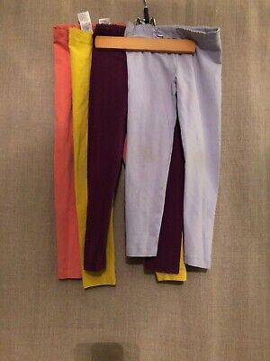 Lot Of 4 Tea Collection Colorful Selection Of Full Length Leggings Size 5