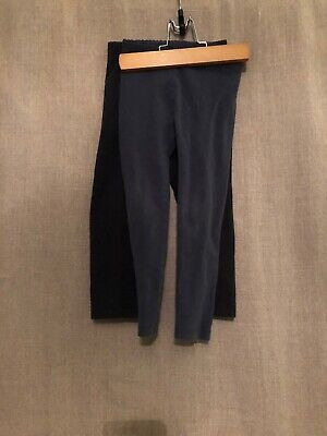 Lot Of 2 Girls 4t Full Leggings Navy And Black Tea Collection Hanna Andersson
