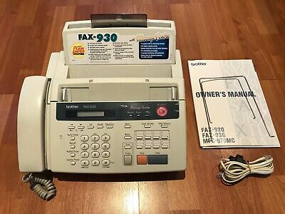 Brother Fax-930 Plain Paper Fax Answering Machine Phone.