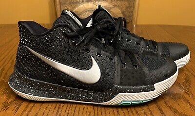 Nike Kyrie 3 III Black Ice Metallic Silver White 852395-018 Men's Size 11.5