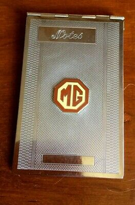 MG SPORTS CAR DRIVERS MOTORING NOTES PAD IN CASE : 1930s-1950s ART DECO : RARE!.