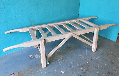 Large French Pine Pig Bench Low Wooden Rustic Table