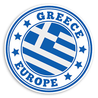 2 x Crete Greece Sticker Decal Laptop Car Travel Luggage Label Tag #9828