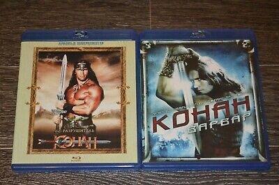 Conan the Barbarian-Conan the Destroyer blu-ray discs self recorded on the disc