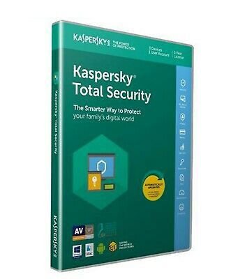 🥇Kaspersky Total Security 2020 - 3 Geräte 730 Tage 2 Jahre Win/Mac/Androide