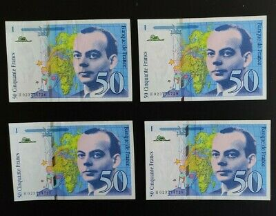 FRANCE: 4x 50 French Franc Banknotes AUNC
