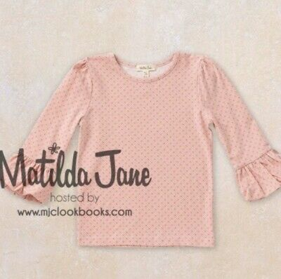 NEW Matilda Jane Friends Forever Mia Puffer Top Layering Tee Size 10 NWT Pink